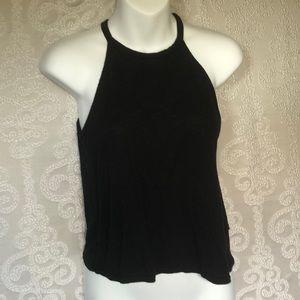 High Neck Black Tank Top from H and M